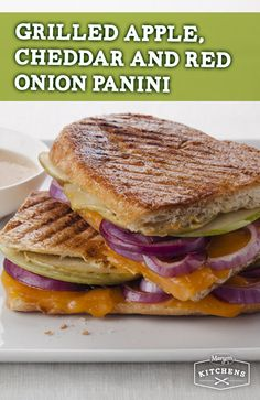 Grilled Apple, Cheddar and Red Onion Panini: This grilled sandwich ...