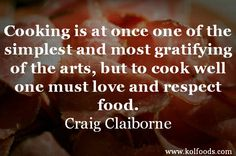 The key to good cookery.