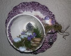 Fairy Tea Cup Garden Wall Decor