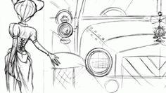 hullabaloo james lopez - Google Search Hullabaloo, 2D animation Steampunk project by Disney animator, James Lopez!