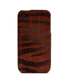 ZebraStripe Engraved Rosewood iPhone4/4s Wood Case