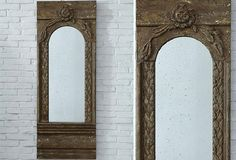 HUGE Wood Framed Mirror - Antique Gold Finish - From Antiquefarmhouse.com - http://www.antiquefarmhouse.com/current-sale-events/french-decor-accents/huge-wood-framed-mirror-antique-gold-finish.html