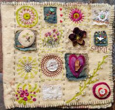 Freckles and Flowers blog. Hand Embroidery Folk Art Sampler workshops.