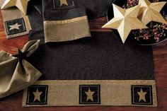 "Primitive Star Placemats - Set of 4 - 13""x19"" by IHF Home. $31.99. Kitchen Linens from IHF Home Décor - Country Placemats"