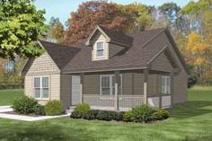 Craftsman Style House Plan - 3 Beds 1 Baths 1132 Sq/Ft Plan #50-264 Exterior - Front Elevation - Houseplans.com