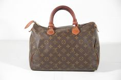 LOUIS VUITTON Brown MONOGRAM Canvas SPEEDY 30 Handbag DOCTOR BAG