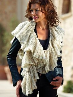 This pattern uses 1 ball of Mondial Malizia . . . and I just ordered 4 balls!!!! So excited.  This scarf is absolutely gorgeous!