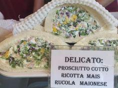 Delicious new tramezzino found on food tour today at Bar alla Toletta! Prosciutto, ricotta, corn & arugula. Ricotta, Prosciutto, Arugula, Venice, Trip Advisor, Tours, Bar, Food, Photos