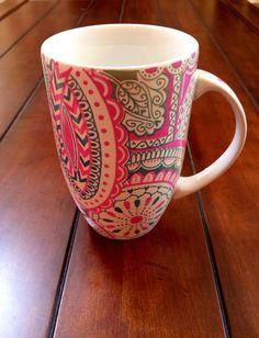 Handdecorated large mug by CraftsForGuatemala on Etsy
