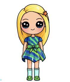 Griffonnages Kawaii, Arte Do Kawaii, Cute Kawaii Girl, Kawaii Disney, Kawaii Girl Drawings, Cute Girl Drawing, Cute Disney Drawings, Cartoon Drawings, Cute Drawings Of People