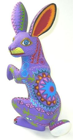 Rabbit Oaxacan Wood Carving 11 5 inch 29993
