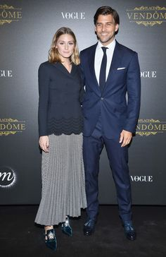 Olivia Palermo Photos - Olivia Palermo (L) and Johannes Huebl attend the Irving Penn Exhibition Private Viewing Hosted by Vogue as part of the Paris Fashion Week Womenswear Spring/Summer 2018 on October 1, 2017 in Paris, France. - Irving Penn Exhibition Private Viewing Hosted by Vogue - Paris Fashion Week Womenswear S/S 2018