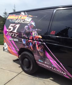 Very Cool Van Wrap....Check out pictures of my MOTO VAN.  Wrapped by Moto Efx Graphics