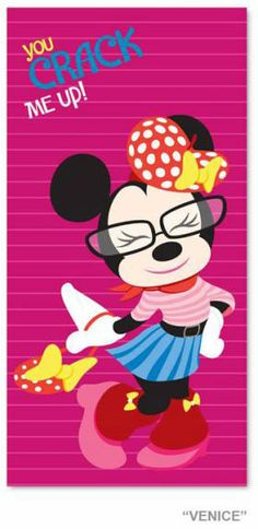 Toalla de playa Disney. Minnie Mouse, rosa Toalla de playa con la imagen de uno de los personajes mas queridos Minnie Mouse.