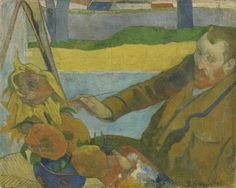 On June 7th 1848 Vincent's friend Paul Gauguin was born. In this painting Gauguin depicts him painting sunflowers.