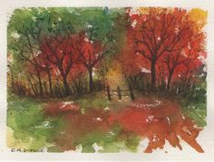 AUTUMN WOODLAND 2 WATERCOLOR