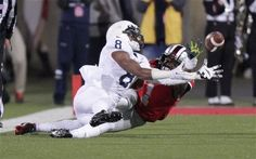 PENN STATE – FOOTBALL 2013 – Penn State vs Ohio State on October 26, 2013. Ohio State cornerback Bradley Roby, right, breaks up a pass intended for Penn State wide receiver Allen Robinson during the second quarter of an NCAA college football game Saturday, Oct. 26, 2013, in Columbus, Ohio. (AP Photo/Jay LaPrete)