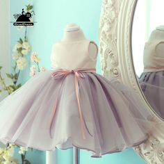 e2171d7a843 Elegant Grey Tulle Flower Girl Dress Country Weddings Pageant Gown  TG7100  - GemGrace.com