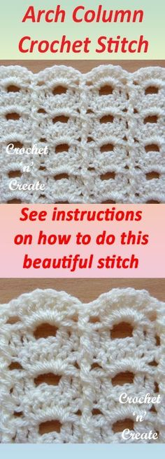 Pretty arch column stich, learn how to crochet this stitch with my written tutorial. #crochet