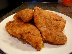 Baked Fried Chicken! Just like KFC! So easy, SO SO GOOD! This recipe is one of the most popular on Pinterest! You have got to try this! Try this in airfryer, using baking tray.