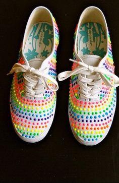 Dots Rave Shoes! Maybe glue on Kandi?!