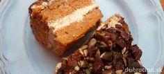 Fotorecept: Mrkvová torta bez vajec s tofu krémom