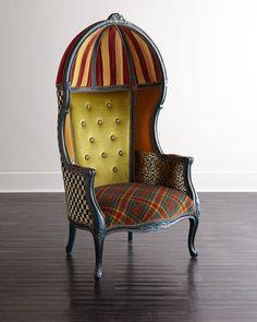 MacKenzie-Childs The Royals Bonnet Chair