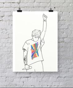 ♥♥ Hello, thanks for visiting worksbeautifully! ♥♥ This is a listing for a hand drawn print of Louis Tomlinson from One Direction!