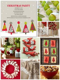 Christmas Party Inspiration Board