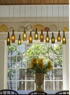 So love this! Used wine bottles made into lights!