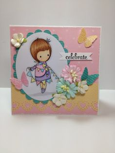 Little Blue Button Stamps: Little Celebrate Card