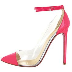 TAKE MY CHILD ! TAKE IT NOW ! JUST GIVE ME THIS DAMN IT :'(   Christian Louboutin Pink and Clear Pumps - Pastel Point Toe Pumps - Marie Claire