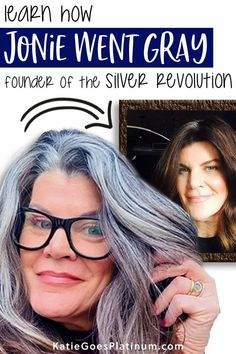 After 30  years of dyeing, Jonie, the founder of the gray hair Facebook group Silver Revolution, decided to ditch the dye and let her long brunette hair go gorgeously gray!  Check out her tips for the gray hair transition at 50.  Her long silver hair is simply gorgeous, and shows that those old rules about cutting your hair short over 40 are way outdated! Long Silver Hair, Long Gray Hair, Dye My Hair, Your Hair, 50 Year Old Hairstyles, Hair Gummies, Grey Hair Journey, Grey Hair Over 50, Long Brunette Hair
