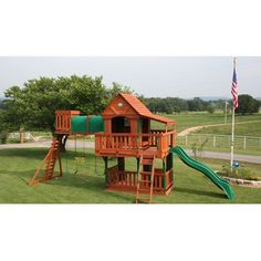Backyard Discovery Woodridge Cedar Swing Set. the swing set we are getting for our kids when its back in stock! i love it!