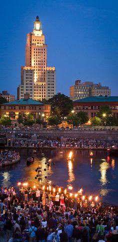 WaterFire - Providence, Rhode Island    #VisitRhodeIsland