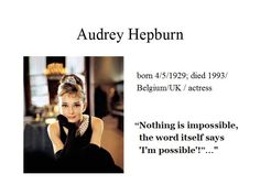 May the 4th...Audrey Hepburn is for me the most naturally beautiful woman of all time...she occasionally acted as a courier for the Dutch resistance, delivering messages and packages...much of her later life she devoted to UNICEF and worked in Africa, South America and Asia...