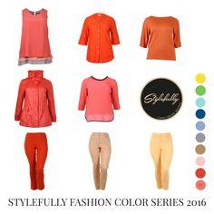 Stylefully Color Serie #01. Die Fashion-Trendfarben der Saison Frühjahr / Sommer 2016 und die Stylefully-Empfehlungen. CURVES. DRESSED. BEAUTIFUL. #fashion #plussize #grossegroessen