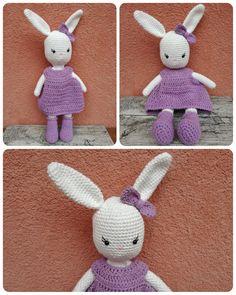 Easter bunny with free pattern (hungarian and russian)/ Húsvéti nyuszi lány ingyenes mintával (magyarul és oroszul) Easter Projects, Snoopy, Crochet, Creative, Blog, Free, Fictional Characters, Amigurumi, Ganchillo