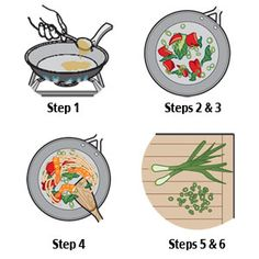 Five step stir fry with sauce recipes.