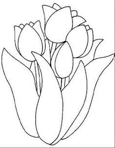 Imagens de flores para colorir - Baú de Artes
