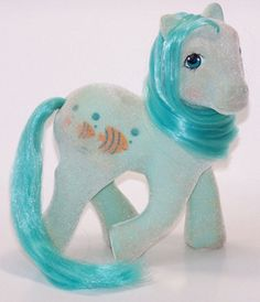 G1 So Soft Earth pony Angel. I just love her colors and her hip symbol of those happy fish!
