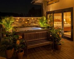 Perfect set up for a hot tub!! outside the master bedroom..