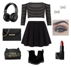 """FIRST DAY OF SCHOOL"" by sukh-deol ❤ liked on Polyvore featuring Polo Ralph Lauren, Dr. Martens, MICHAEL Michael Kors, Marc by Marc Jacobs, NARS Cosmetics, women's clothing, women's fashion, women, female and woman"