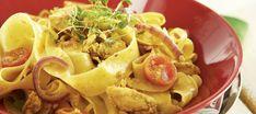 Sipulinen broileri-sinihomejuustopasta Ethnic Recipes, Koti
