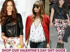 Women leather outfits for the Valentine's Day gifts!