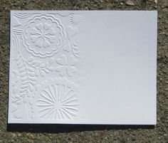 by Kathy Berger    Embossing Folders First, I would like to apologize a little for the length of this post. I am sure I am going to ove...