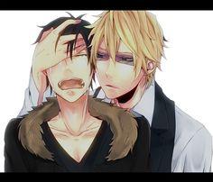 Shizuo and crying Izaya. <3