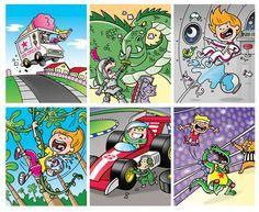 Posting Fingers Kids game cards #2 (Hasbro)