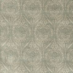 Wolsey Fabric from the Historic Royal Palaces Collection by GP & J Baker. A luxuriously soft cotton mix featuring a striking raised Damask pattern in neutral tones. Shown here in Verdigris. Buy it today at F&P Interiors. Gp&j Baker, Neutral Tones, Damask, Fabrics, Quilts, Pattern, Interiors, Collection, Damascus