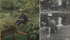 "Babe Paley.  Seriously, did the woman ever have an off day? Barbara ""Babe"" Cushing Paley, one of Capote's ""swans,"" was photographed for Vogue in her ""secret, sunken garden,"" by Horst on Long Island in 1964, looking, of course, cool as a cucumber as she enjoys ""The Sorcery of Green"" in her American elysium.  Photo by Horst P. Horst.  Vogue, December 1, 1964."